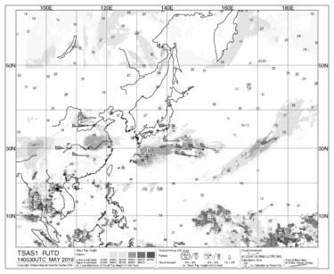 【TSAS1】広域雲解析情報図(北半球)の見方