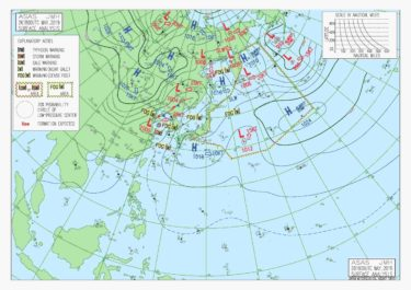 【ASAS】アジア太平洋地上天気図の見方
