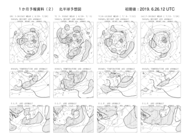 【FCVX12】1ヵ月予報資料 アンサンブル平均図の見方