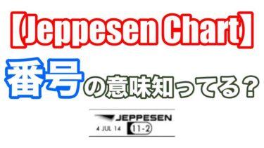 ジェップセンチャートの番号を覚えるメリット!【Jeppesen Chart】