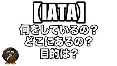 【IATA】どういう組織?何をしているの?目的は?