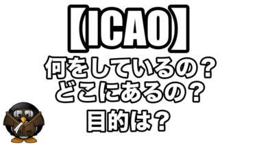 【ICAO】どういう組織?何をしているの?目的は?