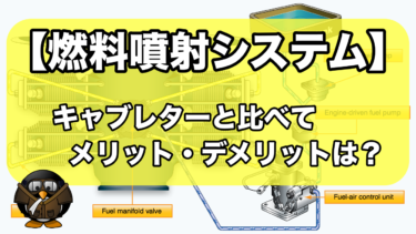 【燃料噴射システム】キャブレターと比べてどんな利点があるのか?