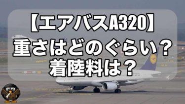 エアバスA320の重量ってどのぐらいあるの?着陸料は?