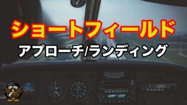 【飛行機の着陸】ショートフィールドアプローチとランディング