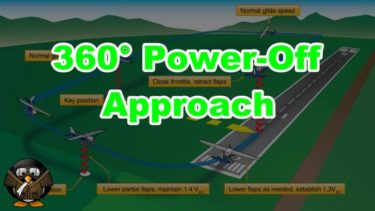 【飛行機の着陸】360° Power-Off Approach