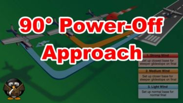 【飛行機の着陸】90° Power-Off Approach
