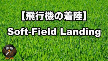 【飛行機の着陸】ソフトフィールドアプローチとランディング