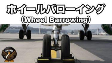 【飛行機の着陸】ホイールバローイング(Wheel Barrowing)とは?